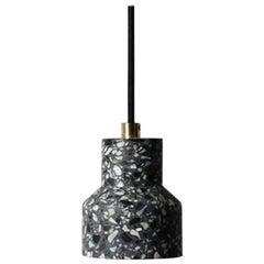 TU, Black Terrazzo and Concrete Pendant Lamp