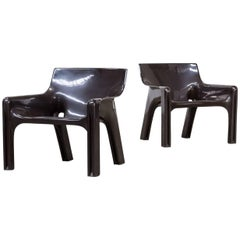 Vico Magistretti 'Vicario' Chair for Artemide, Set of Two