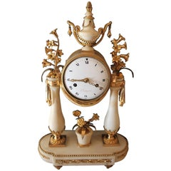 Marble and Gilded Bronze Mantel Clock, Louis XV Period