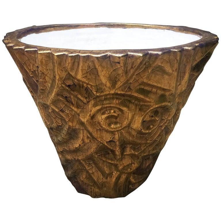 Edouard Cazaux, Large Art Deco Ceramic Vase, circa 1930