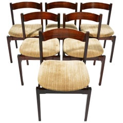 Six Gianfranco Frattini Rosewood Chairs Mod. 101 for Cassina, 1959