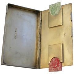 George v Silver Combined Card and Stamp Case by Smith & Bartlam, 1923
