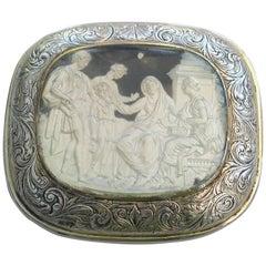 William IV Silver Gilt and Slip Cushion Shaped Vinaigrette Cornelia, 1834