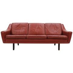 1960 Midcentury Danish Palisander Three-Seat Sofa