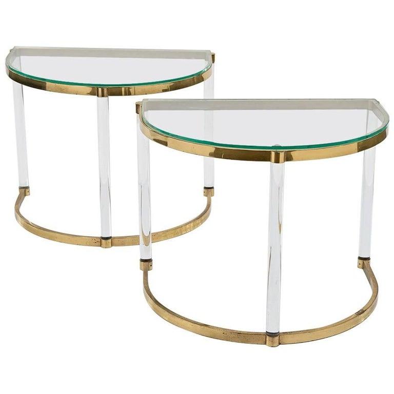 Semi-Circular Side Tables