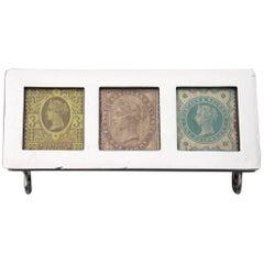 Victorian Silver Triple Compartment Stamp Box, 1898