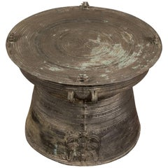 South Asian Bronze Rain Drum Table