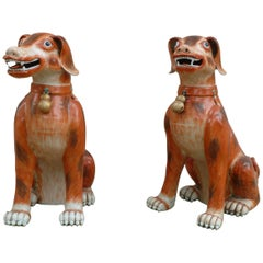 Pair of Porcelain Dogs