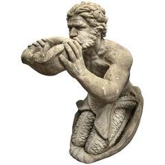 Cast Cement Figure of Triton
