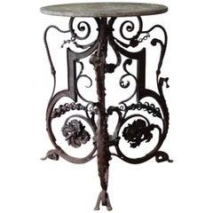 19th Century Wrought Iron Table
