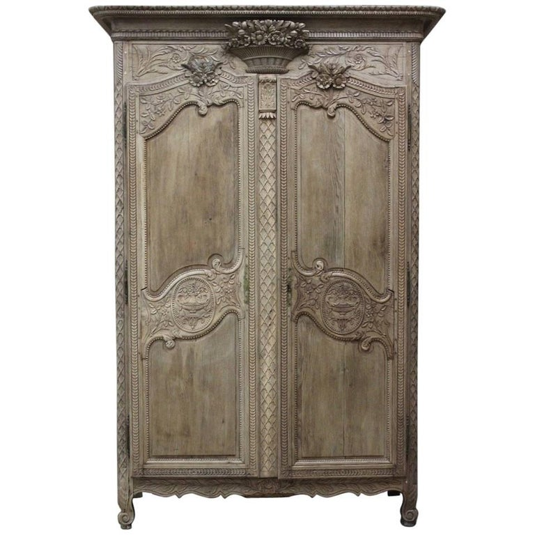 19th Century French Normandy Marriage Armoire