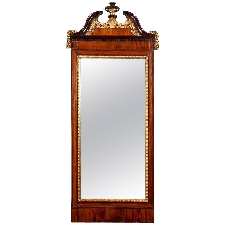 Antique 18th Century George III Pier Mirror