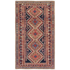 Antique Caucasian Shirvan Rug with Tribal Design and Medallions