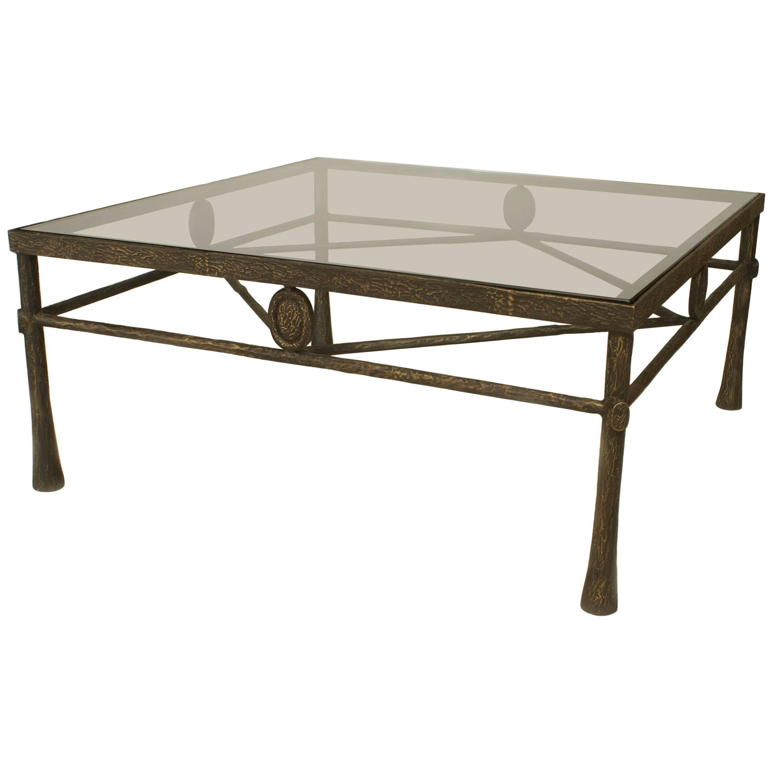 Postwar Design 'Giacometti Style' Dark Bronze Patina Coffee Table