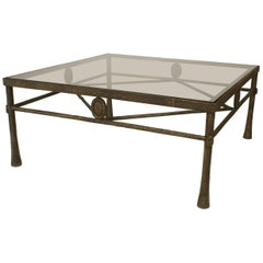 Postwar Design 'Giacometti Style' Dark Bronze Patina Coffee Table