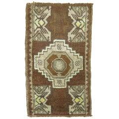 Vintage Turkish Brown Rug