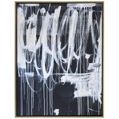 """""""Hidden Figures No. 4"""" Dark Gray & White Original Painting by Karina Gentinetta"""