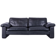 COR Conseta Designer leather Sofa black Two-Seat Couch Friedrich-Wilhelm Möller