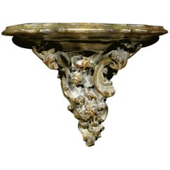 18th Century Italian Rococo Period Plaster Wall Bracket, Probably Venetian
