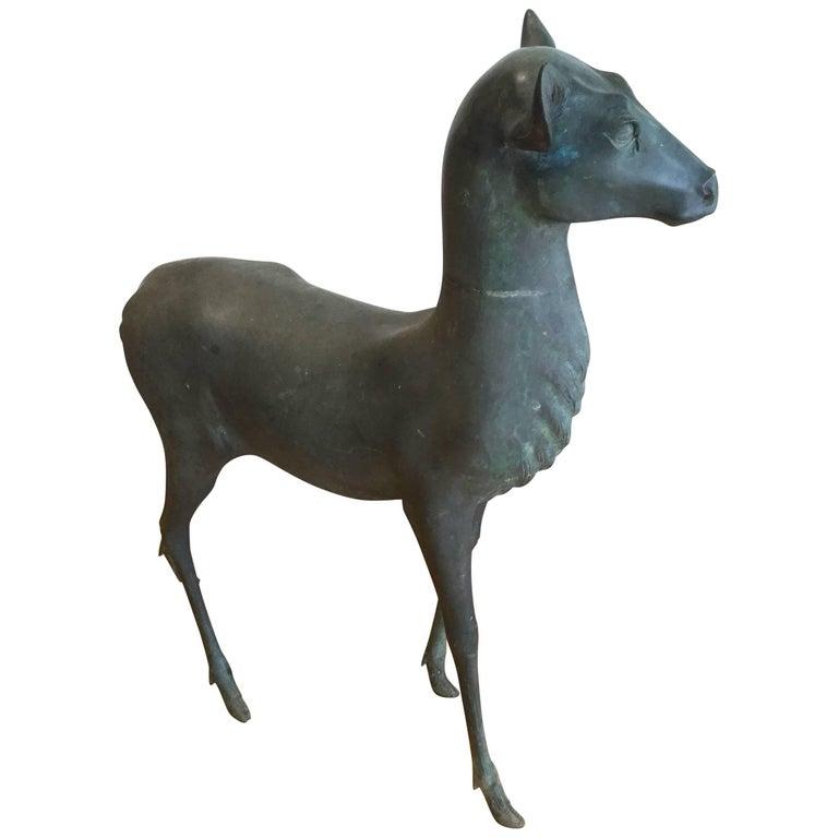 Bronze Deer Garden Sculpture