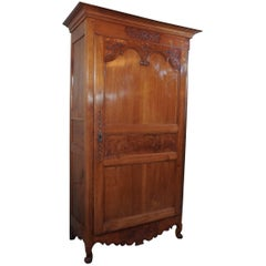 19th Century French Fruitwood Bonnetierre