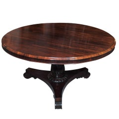 Antique English Regency Rosewood Centre Table