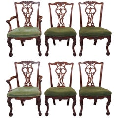 Set of Six Antique English Dining Chairs