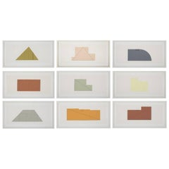 Complete Portfolio of Prints-Multiple Panel Paint 1973-1976 by Robert Mangold