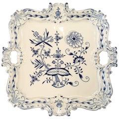 Meissen Square Porcelain Serving Platter