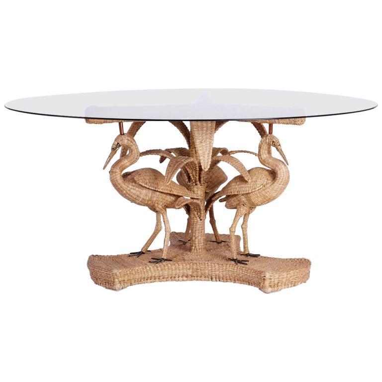Mario Torres Wicker Table