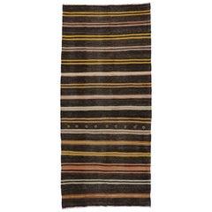 Vintage Turkish Kilim Rug, Flat-Weave Kilim Rug