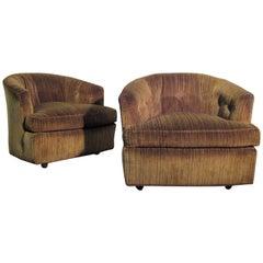 Hollywood Regency Barrel Chairs