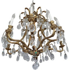 ON SALE!!Spectacular 1920s  Shimmering in Crystal's Hollywood Regency Chandelier