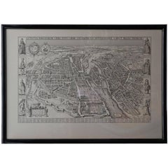 Vintage French Map of Paris