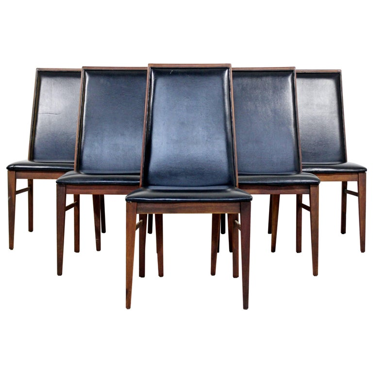 Mid-Century Modern Milo Baughman for Dillingham, Set of Six Side Dining Chairs