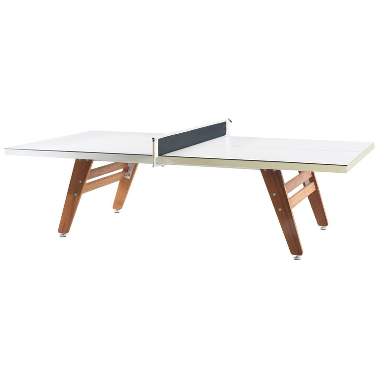 Rs Stationary Ping Pong Table In White By Barcelona For