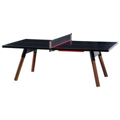 You & Me HPL Top Ping Pong Table 220 in Black by RS Barcelona