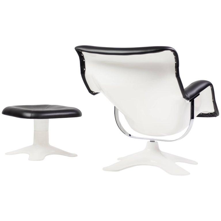 Karuselli Lounge Chair with Ottoman by Yrjö Kukkapuro