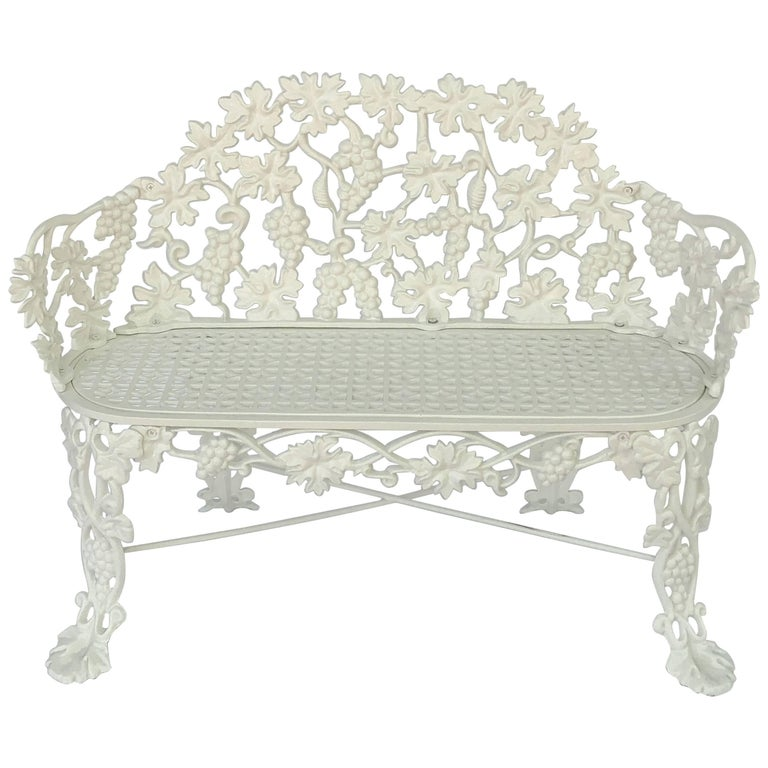 American Garden Bench of Cast Iron by Hart For Sale