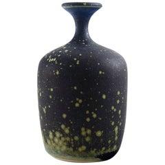 Rolf Palm, Mölle, Unique Art Pottery Vase, Swedish Design, 1980s