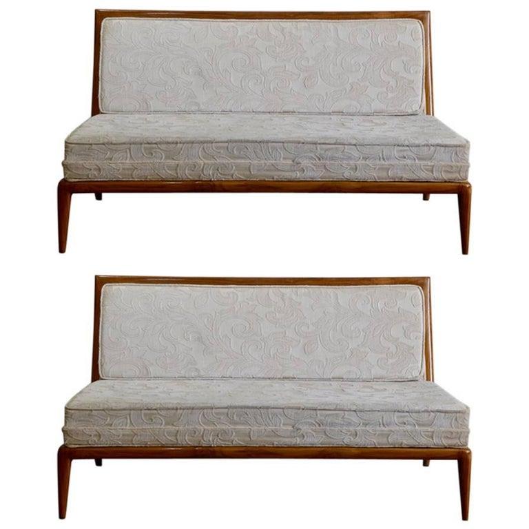 Pair of Elegant Settees by T.H. Robsjohn-Gibbings