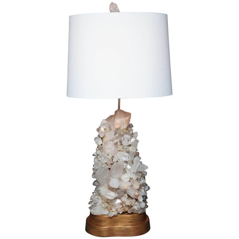 Midcentury Carole Stupell Quartz Crystal Lamp