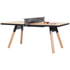 You & Me Wooden Top 180 Ping Pong Table in Oak and Black by RS Barcelona
