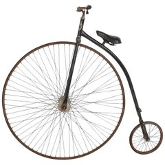 Velocipide Boneshaker High Wheel Bike, 1870s Victorian Era