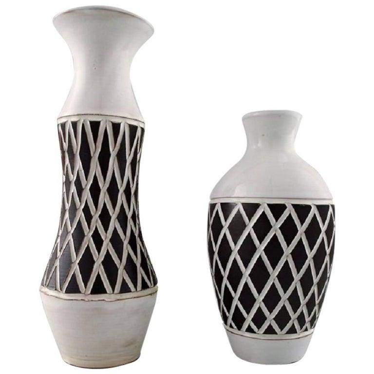 Two Gabriel Sweden Ceramic Vases 1960s For Sale At 1stdibs