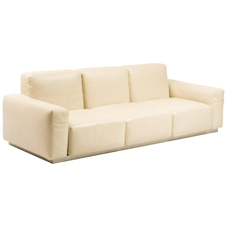 "Zanotta Leather ""Upndown"" Sofa"