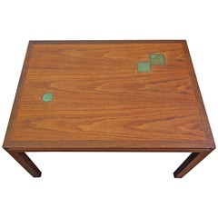 Edward Wormley for Dunbar Occasional Table with Natzler Tiles