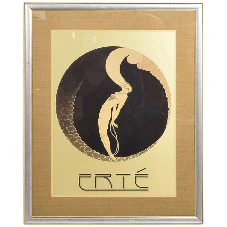 Romain de Tirtoff (Erté) Large Art Deco Style Wall Tapestry, \