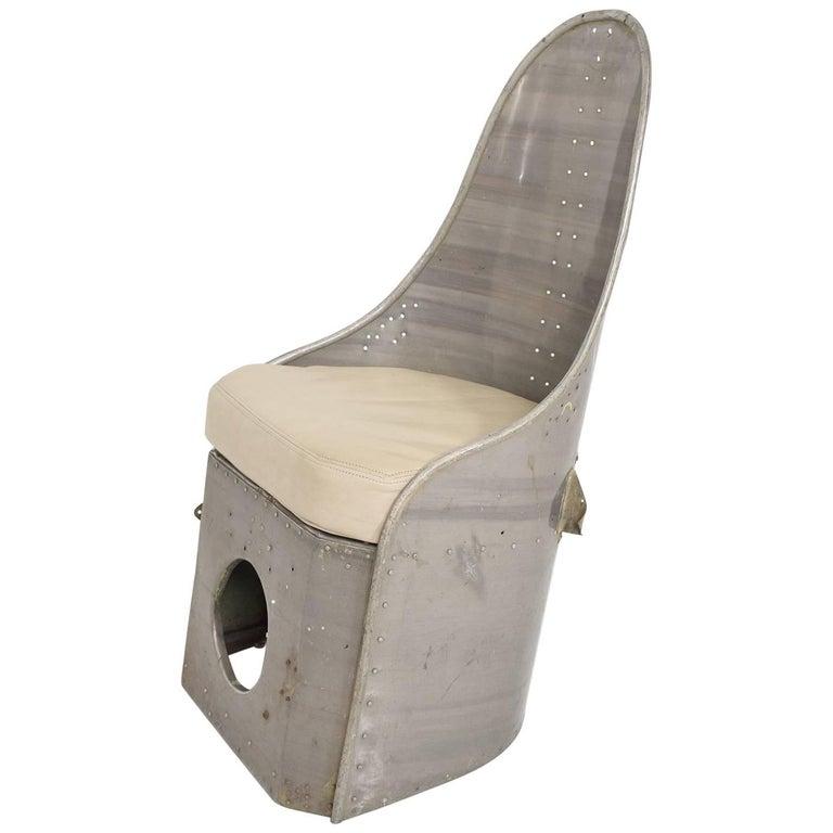 Industrial Mid-Century Modern Aluminum Airplane Chair
