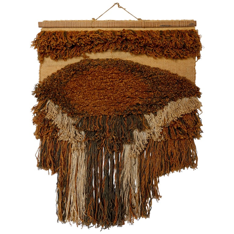 Sculptural Wall Hanging Fiber Art